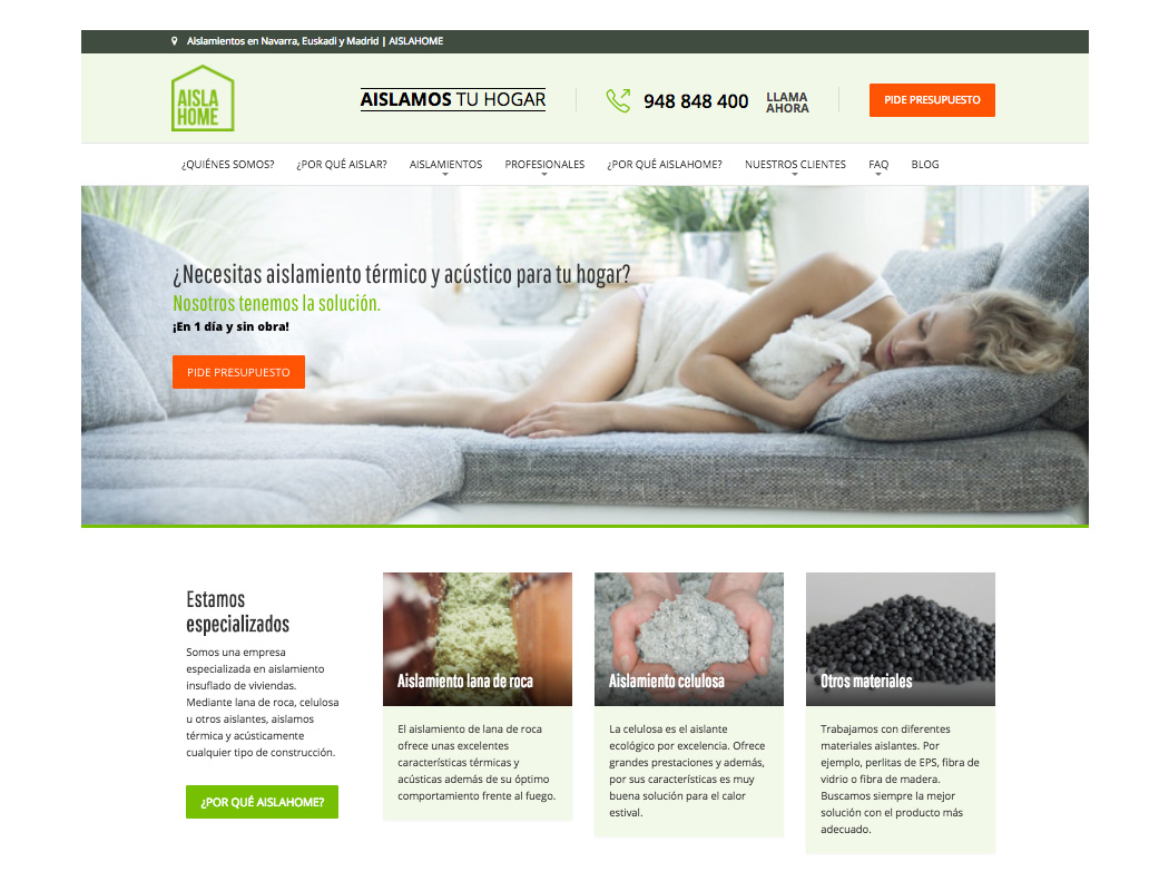 Aisla Home - Home Insulation SEO Case Study