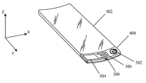smart wrist device patent by Apple