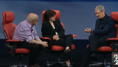 Apple CEO Tim Cook shows off his Nike Fuel Band at D11