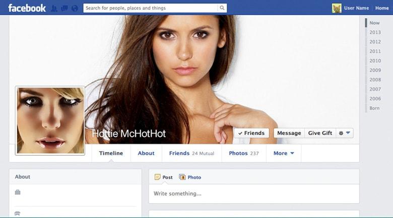 Facebook fake social profiles