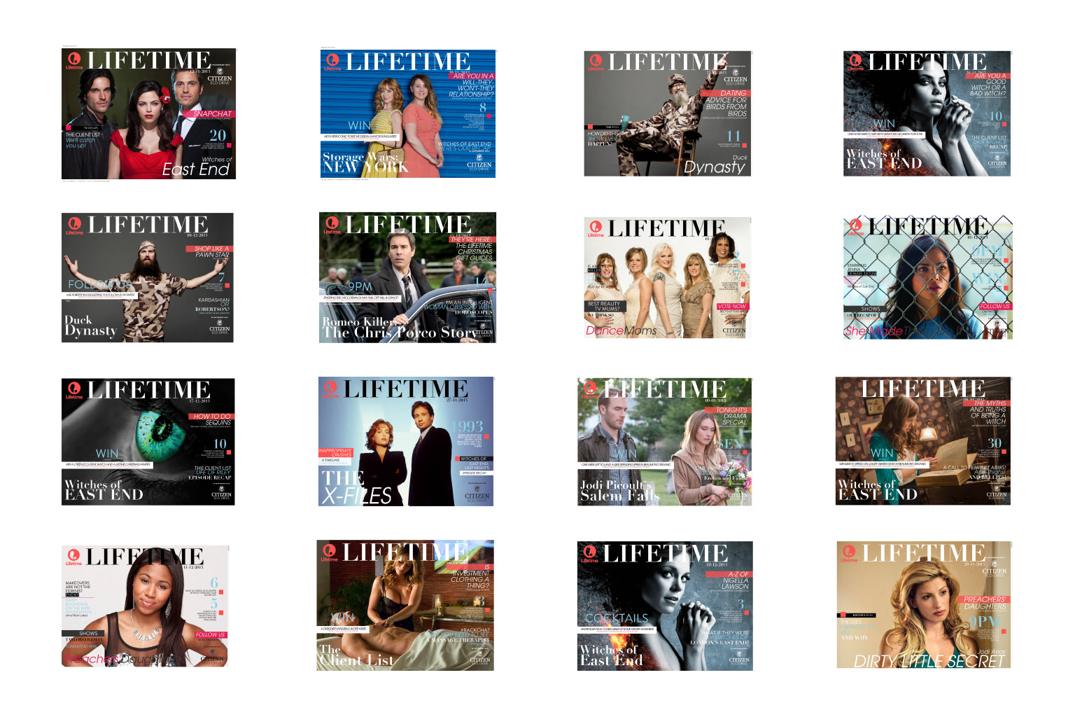 Lifetime TV Multiple Covers
