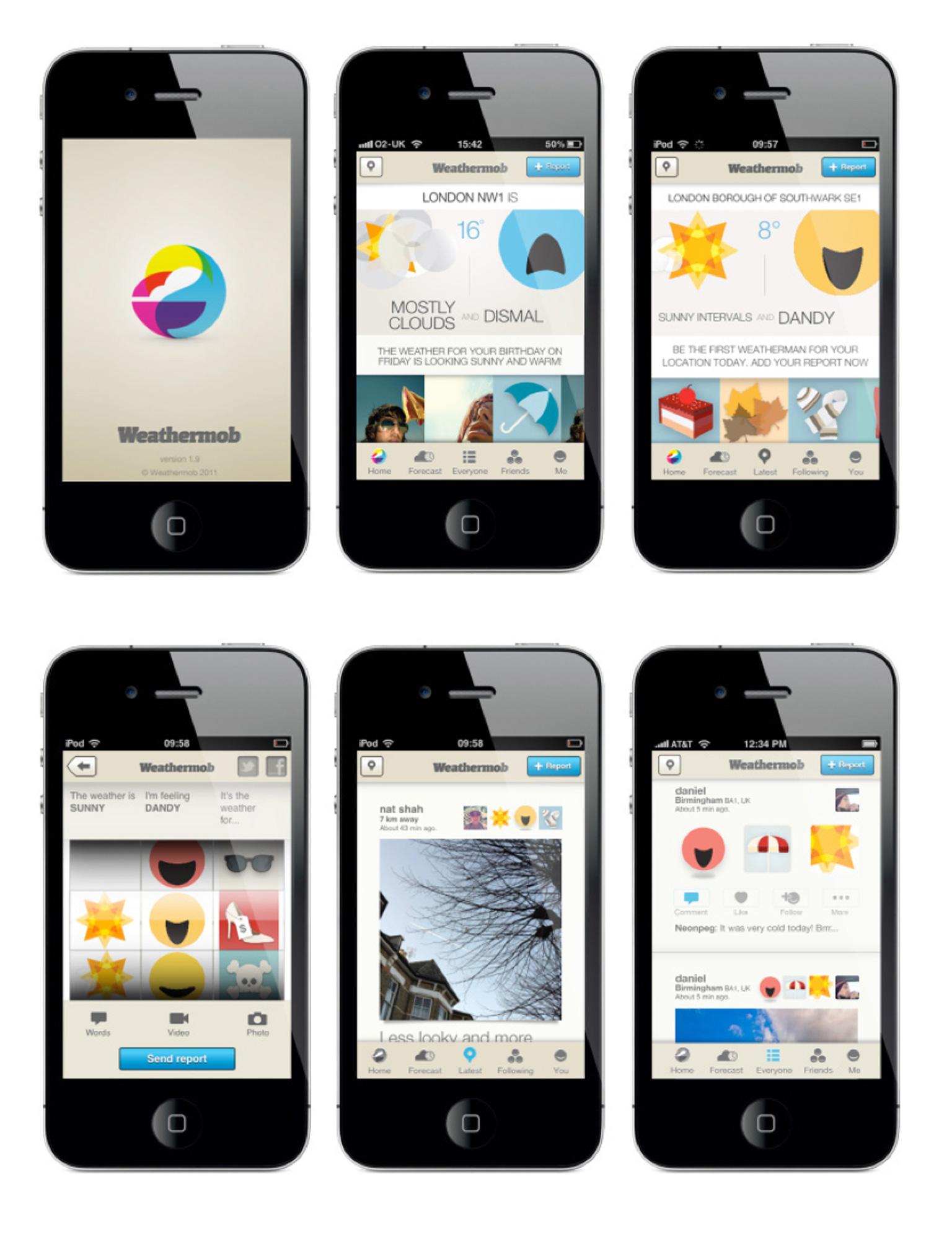 Weathermop App Phones