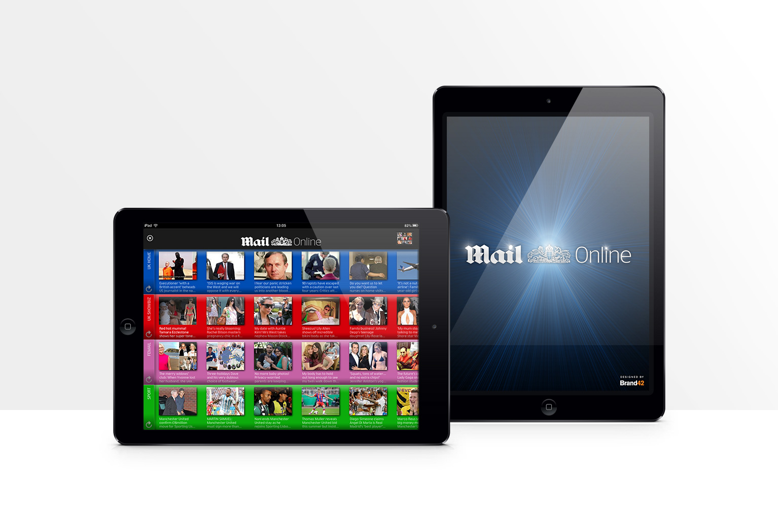 MailOnline iPad App designed by Brand42