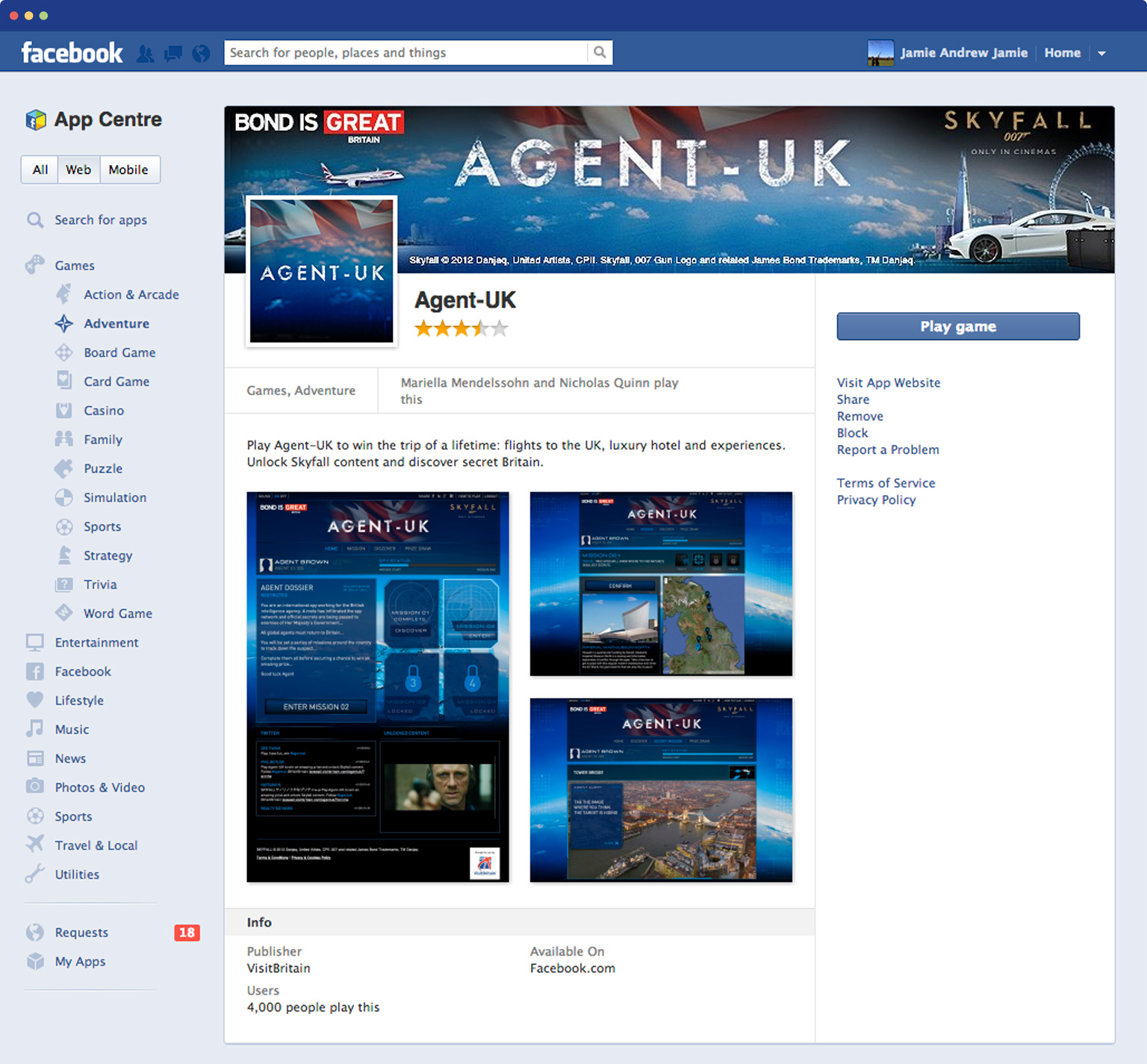 AgentUK on facebook