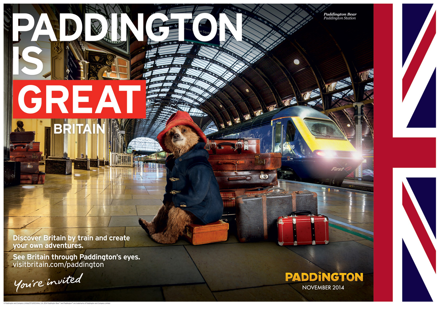 Paddington Great Campaign Poster