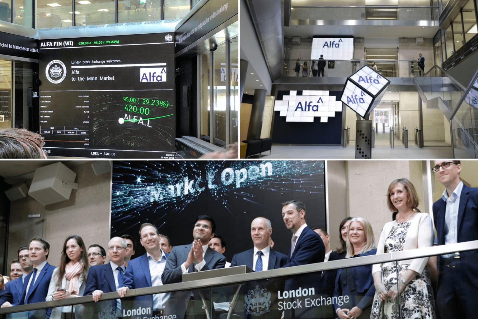 Alfa Investor Relations London Stock Exchange Float