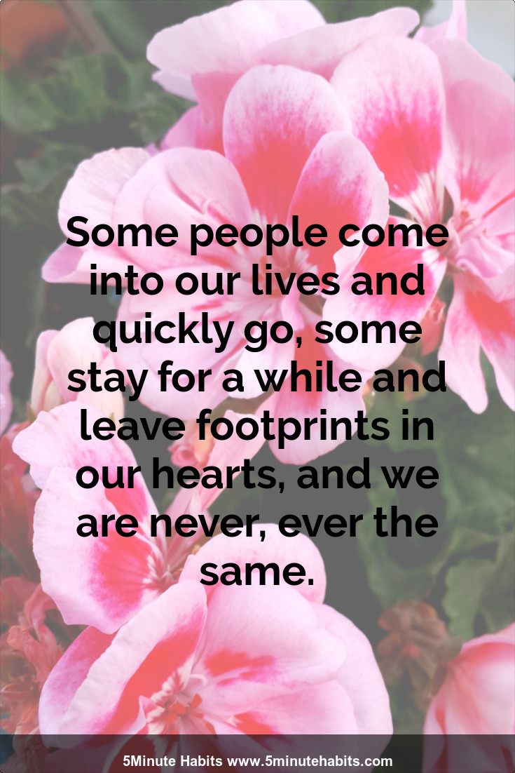 people come and go in our lives