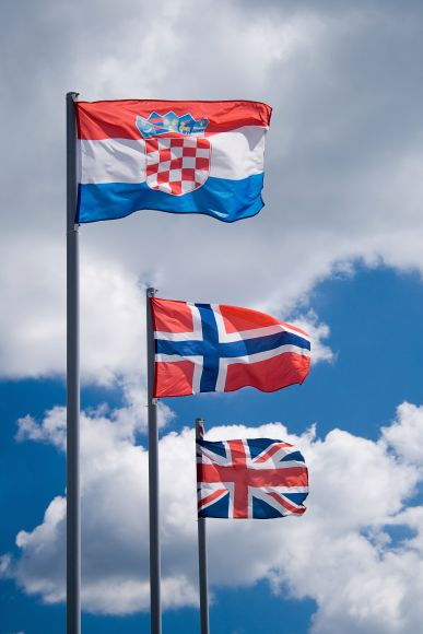 Valstybių vėliavos ant stiebų