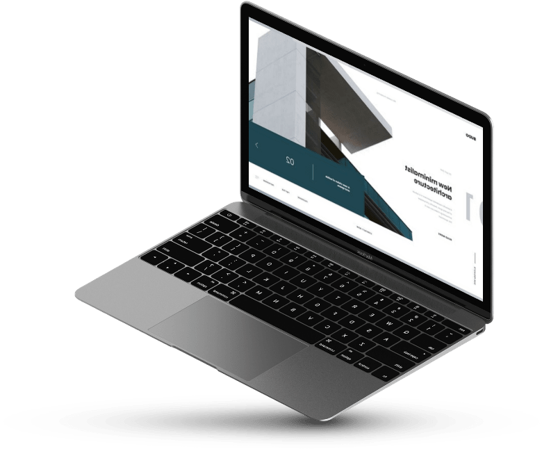 Open laptop with a website on screen