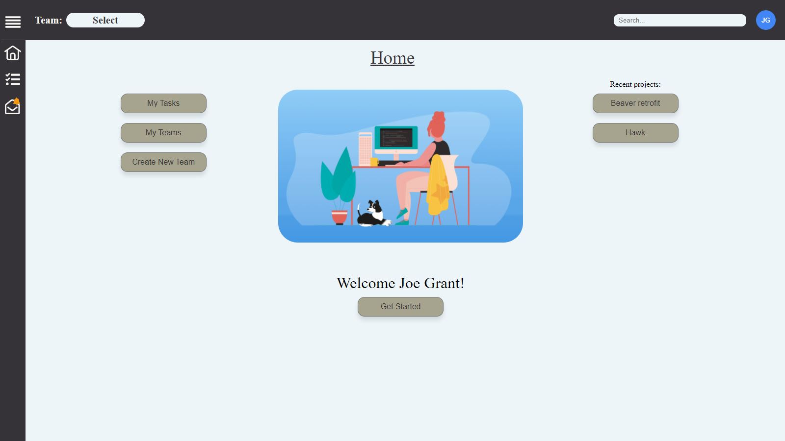 SmartManager welcome page