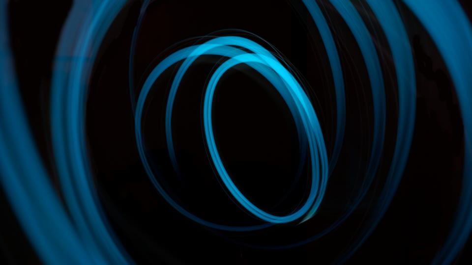 Black background with several cyan circles on it