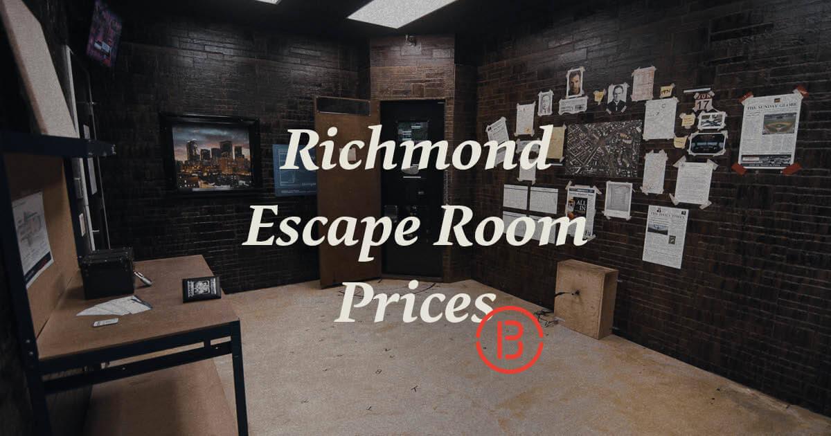 Prices Rva Escape Room Breakout Games