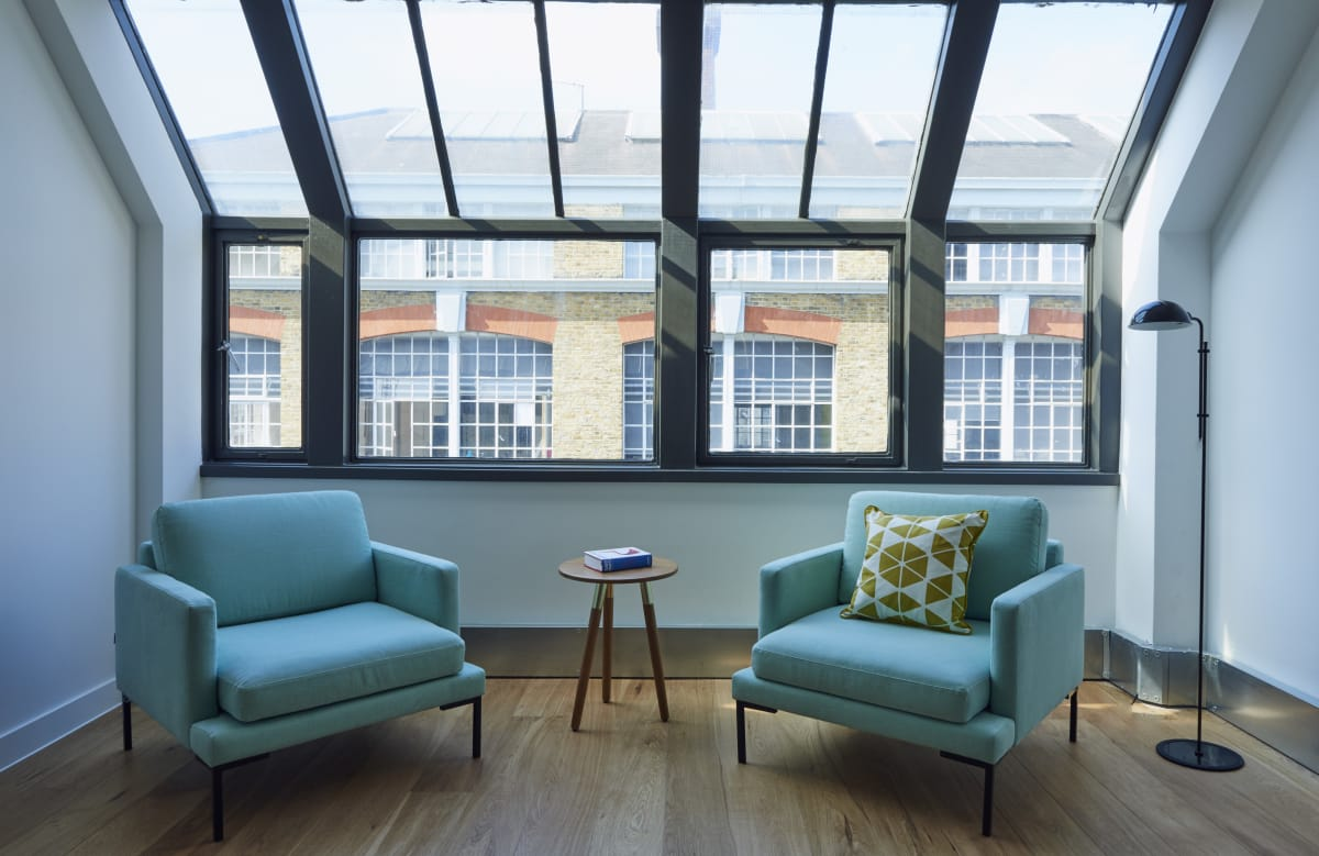 therapy space at 100 Clifton Street, Shoreditch ,London