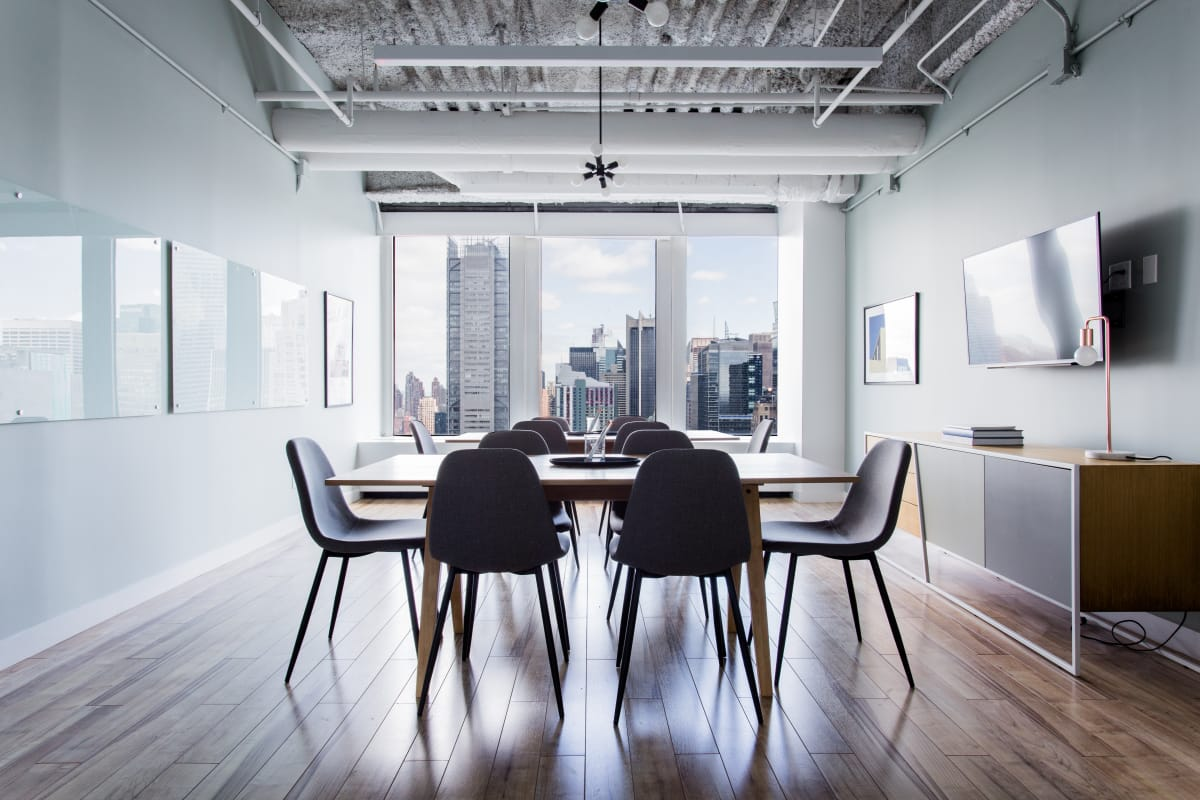 collaboration space at One Penn Plaza ,New York City