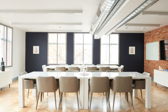 Workspace fully furnished and equipped located at 1 Charlotte Street, Fitzrovia, London.