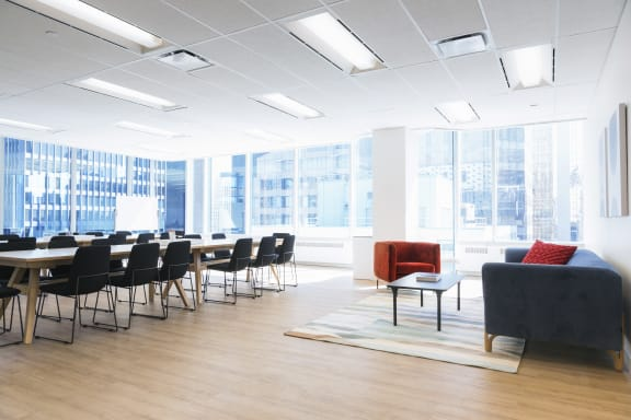 Workspace fully furnished and equipped located at 1 University Ave, #1602, Toronto.