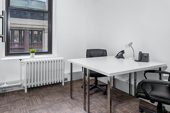 Workspace fully furnished and equipped located at 10 E 39th Street, #1-3-Office 1, New York City.
