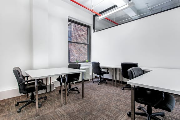 Workspace fully furnished and equipped located at 10 E 39th Street, #16-Office 16, New York City.