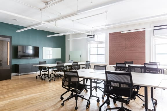 Workspace fully furnished and equipped located at 100 Crosby Street, #502, New York City.