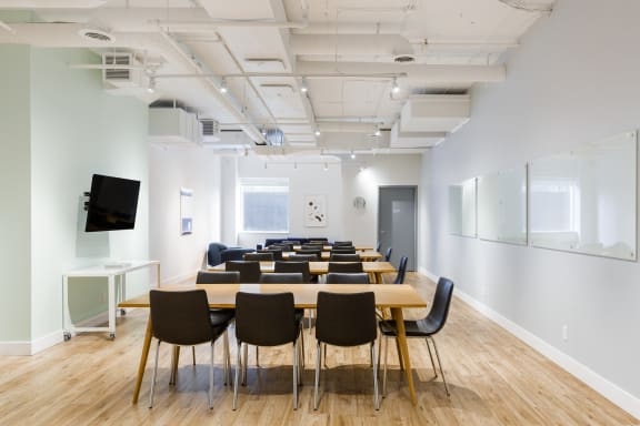 Workspace fully furnished and equipped located at 111 Peter St., #608, Toronto.
