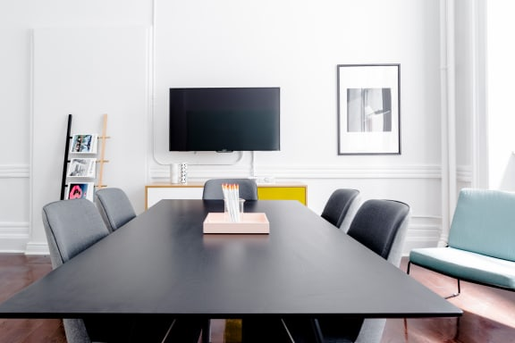 Workspace fully furnished and equipped located at 1123 Broadway, #312, New York City.