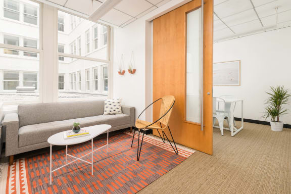 Workspace fully furnished and equipped located at 114 Sansome St., #250, SF Bay Area.