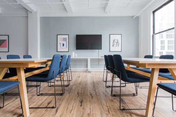 Workspace fully furnished and equipped located at 115-125 West 30th Street, #1101, New York City.