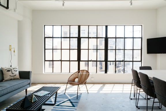 Office space fully furnished and equipped located at 120 E. 8th St., #512, Downtown LA.