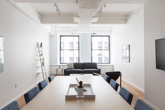 Office space fully furnished and equipped located at 1384 Broadway, #802, Midtown.