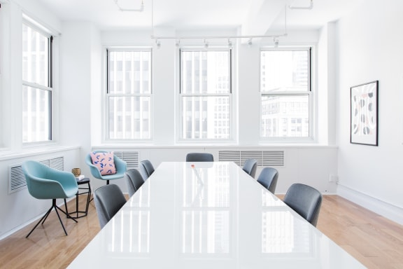 Workspace fully furnished and equipped located at 1407 Broadway, #2321, New York City.