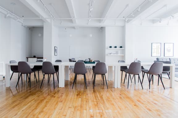Workspace fully furnished and equipped located at 150 West 25th Street, #602, New York City.