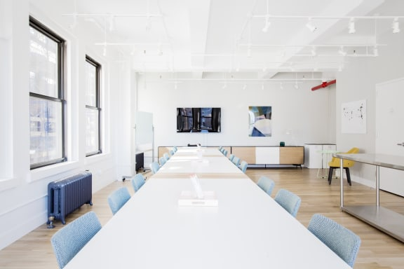 Workspace fully furnished and equipped located at 150 West 28th Street, #1703, New York City.