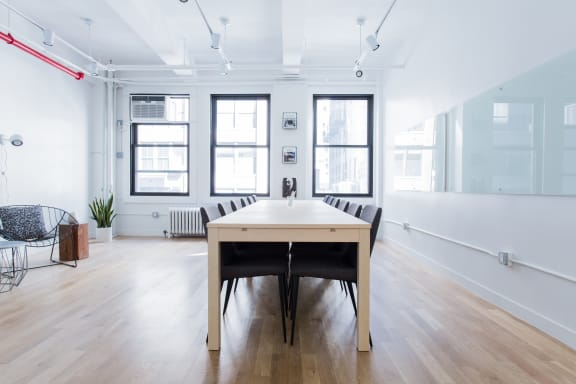 Workspace fully furnished and equipped located at 150 West 28th Street, #404-2, New York City.