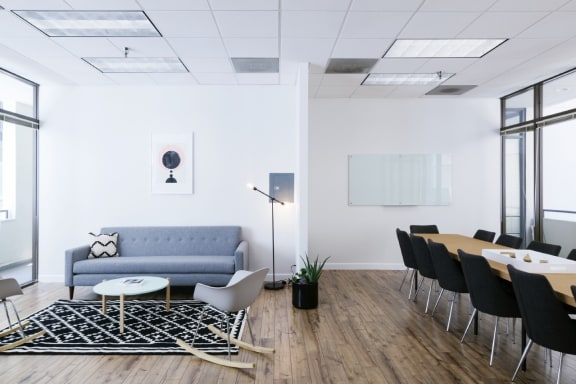 Workspace fully furnished and equipped located at 1540 7th St., #208, Los Angeles.