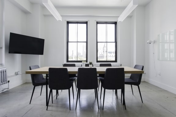 Workspace fully furnished and equipped located at 16 Court Street, #711-1, New York City.