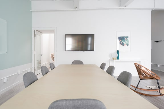 Workspace fully furnished and equipped located at 185 Clara St., #101B, SF Bay Area.