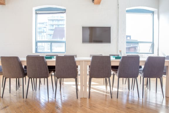 Workspace fully furnished and equipped located at 20 Maud St., #301-2, Toronto.