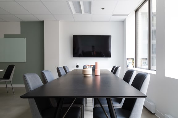 Workspace fully furnished and equipped located at 2160 Rue de la Montagne, #720, Montreal.
