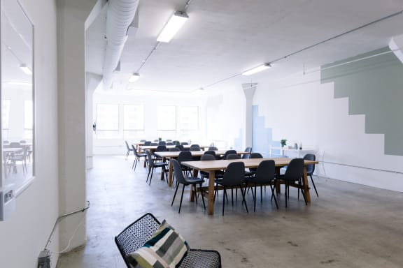 Workspace fully furnished and equipped located at 309 E. 8th St., #302, Los Angeles.