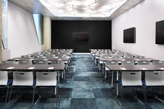 Workspace fully furnished and equipped located at 320 West 36th Street, #The Hudson Meeting Room, New York City.