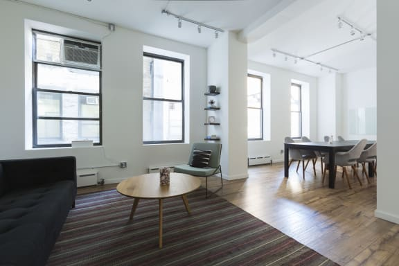 Office space fully furnished and equipped located at 347 Fifth Avenue, #605, Midtown.