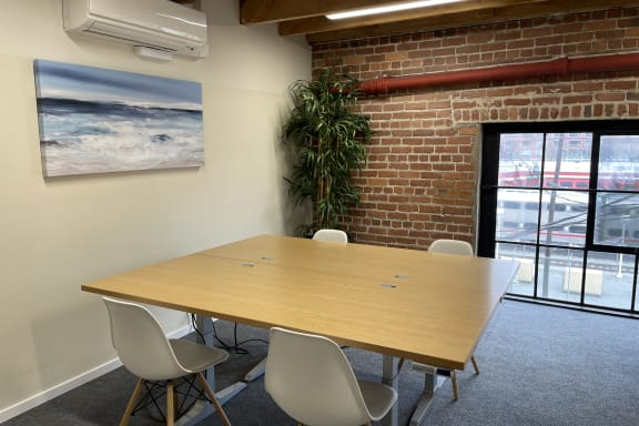 Workspace fully furnished and equipped located at 350 Townsend Street, #422-A, San Francisco.