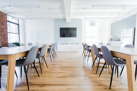 Workspace fully furnished and equipped located at 36 East 23rd, #9F, New York City.