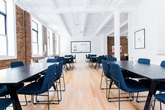 Workspace fully furnished and equipped located at 37 East 28th Street, #206-4, New York City.