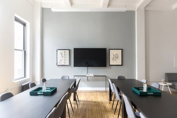 Workspace fully furnished and equipped located at 37 West 20th Street, #1207, New York City.