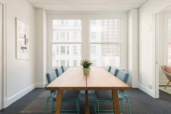 Workspace fully furnished and equipped located at 381 Bush St., #504, SF Bay Area.