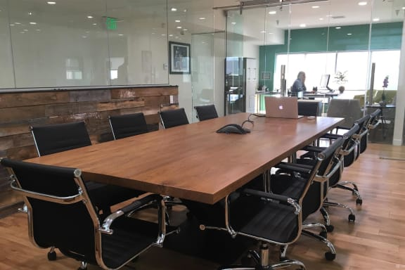Workspace fully furnished and equipped located at 4011 West Jefferson Boulevard, #Conference Room, Los Angeles.