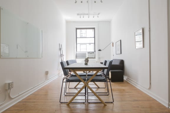 Workspace fully furnished and equipped located at 44 Court Street, #911, New York City.