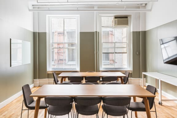 Workspace fully furnished and equipped located at 580 Broadway, #710, New York City.
