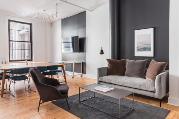 Workspace fully furnished and equipped located at 594 Broadway, #1206, New York City.